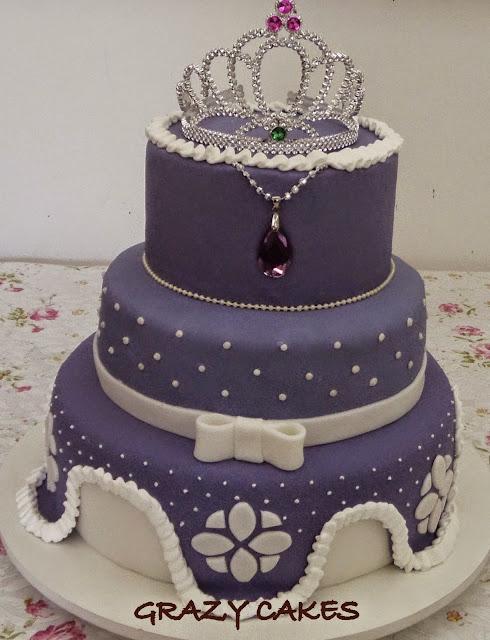 Bolo Grazy cakes princesa Sofia