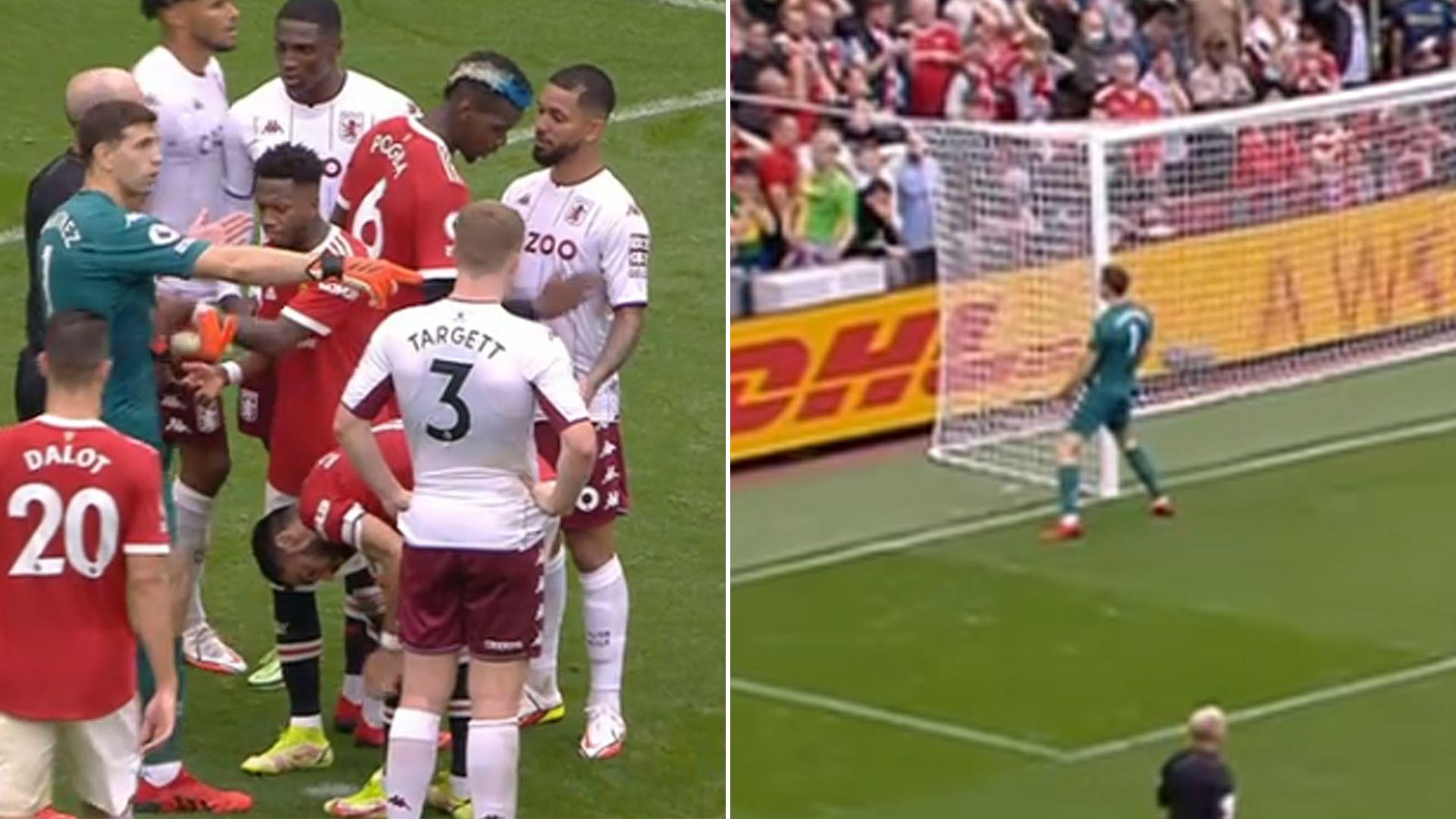 El show de Dibu Martínez en la Premier: desafió a Cristiano Ronaldo a patear un penal, Manchester United falló y celebró con baile ante los fanáticos