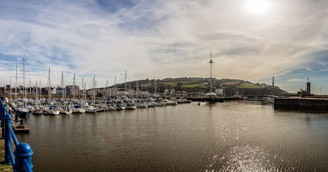 Photo of a wider view of Whitehaven Marina