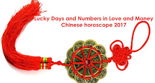 2017 Lucky Days and Numbers in Love and Money Chinese horoscope
