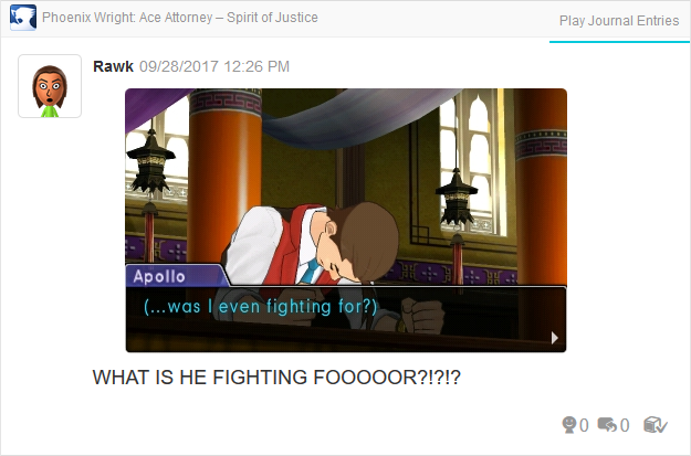 Phoenix Wright Ace Attorney Spirit of Justice Apollo fighting for