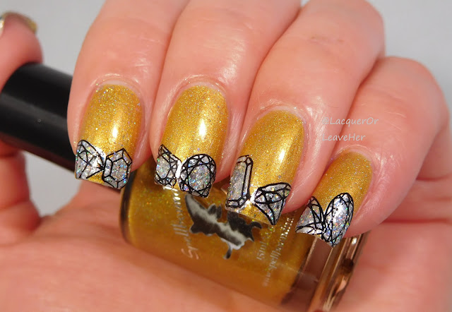 UberChic Beauty 23-01 over Spellbound Nails In Just 7 Days and BeautyBigBang Galaxy Holo Flakes