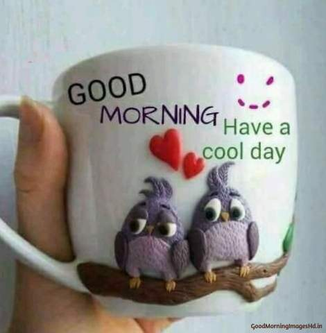 Good morning coffee images with love birds