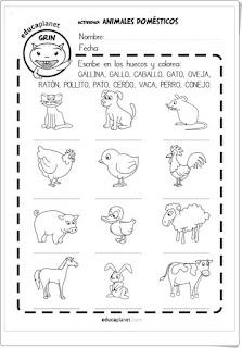 Imágenes de animales para colorear