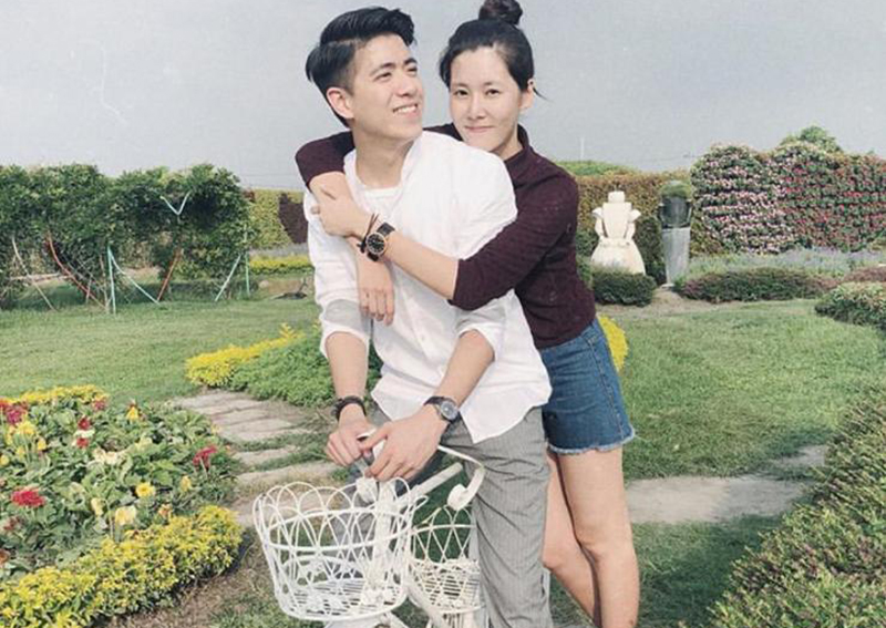 Actress Carrie Wong (黄思恬 Huáng sī tián) expressed her love for her boyfriend, Boris Lin, a Taiwanese with modelling experience.