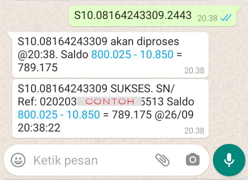 Jualan Pulsa Lewat WhatsApp
