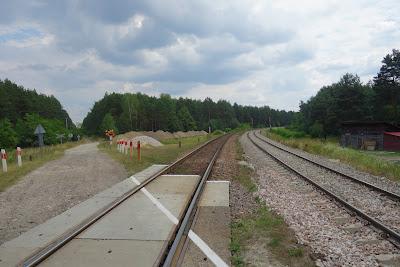 Okolice Zwierzyńca: z lewej Linia Hutnicza Szerokotorowa LHS (dawniej Linia Hutniczo-Siarkowa), z prawej linia normalnotorowa