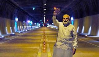 PM Modi inaugurated Asia's longest road tunnel: Zojila tunnel