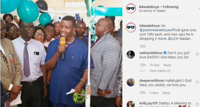 Pastor Adeboye Donates ₦10m To UCH Ibadan, Promises To Give ₦20m More (Photos)