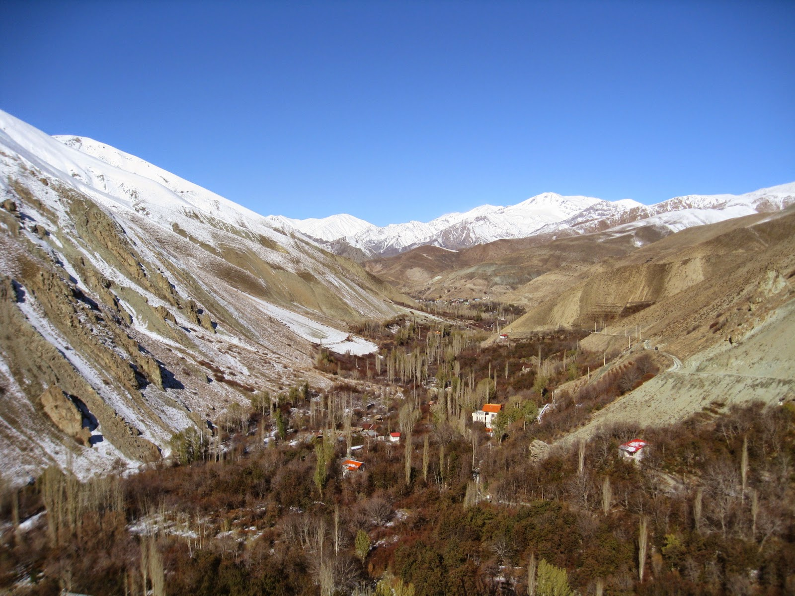 Shahrestanak scenery in autumn
