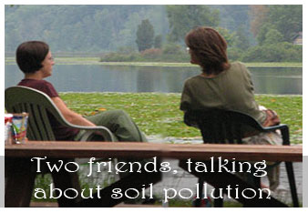 Write a dialogue between two friends on soil pollution » Digital