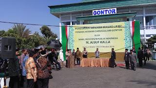 Wapres Jk Resmikan Menara Baru Masjid Jami Gontor Dan Gedung