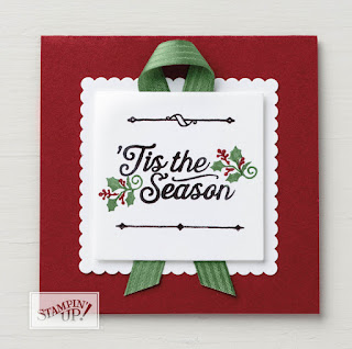 Stampin' Up! Oh, What Fun Tis the Season Christmas Card