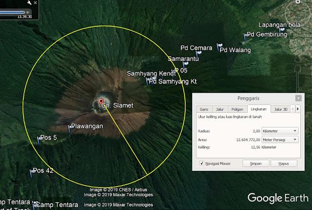 Status Waspada Di Radius 2 km dari Puncak Gunung Slamet