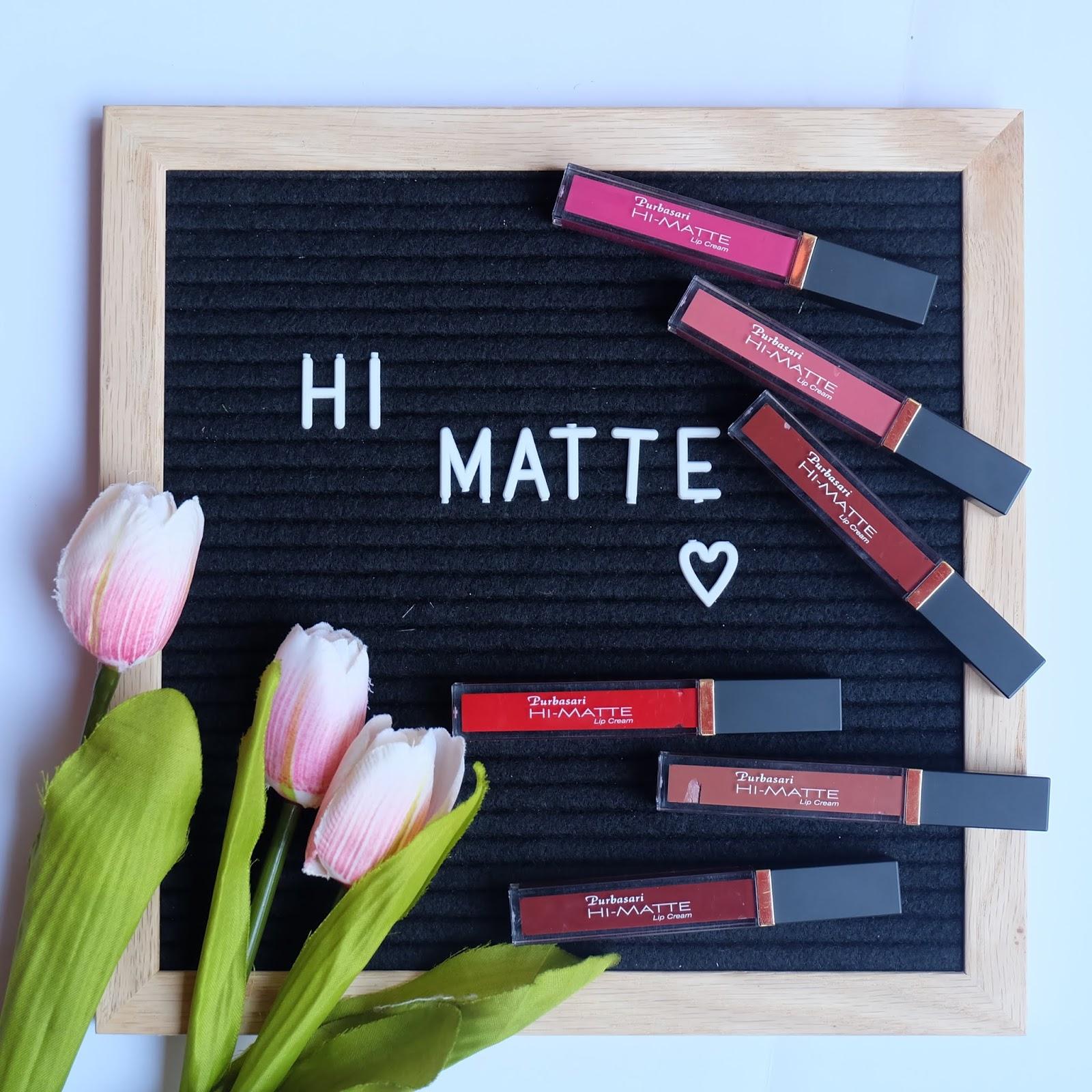 Review Purbasari Hi Matte Lip Cream Hydra Series Terbaru All Shades Lipstick
