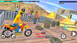Bike Stunt Track Race New Game
