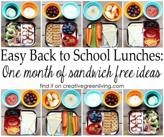 Easy Back to School Lunch Ideas: A Full Month of Sandwich Free Bento Box Lunches
