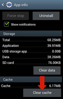 Cara Menghapus cache android