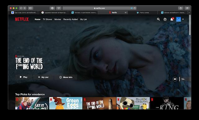 Netflix for English learning