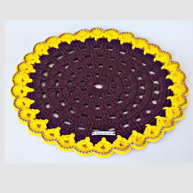 Quero comprar sousplat em crochê para mesa posta tema girassol