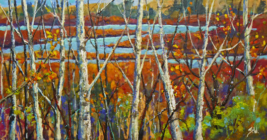 """Fall Remnants"", encaustic painting by Sharon Lynn Williams"