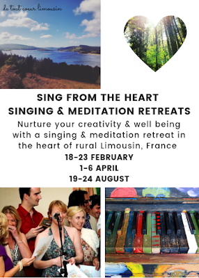 sing from the heart, singing retreats, Limousin, learning holidays, activity holidays, massif central, Lac de Vassiviere, royere de vassiviere, france holidays, The Guardian, singing is for everyone, retreats, affordable, budget, de tout coeur limousin, singing lessons, vocal coaching, meditation, well being retreat, health, holistic health, yoga retreats, yoga and singing, sante yoga, creuse,