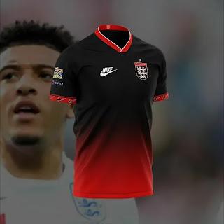 gambar ringan Bocoran Jersey Inggris away euro 2020/2021 Nike Konsep