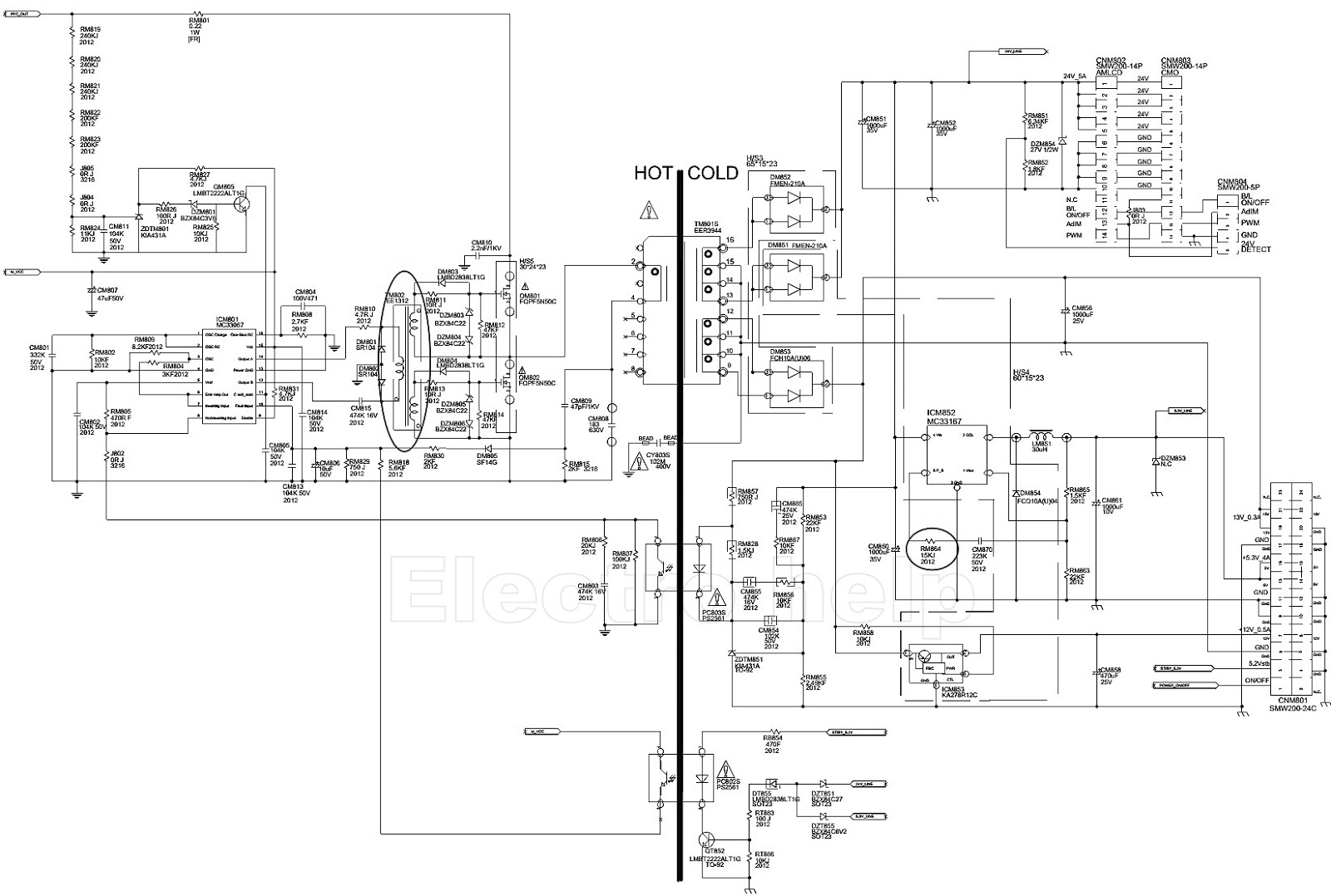 Electro Help Samsung Bn44 Lcd Power Board Schematic
