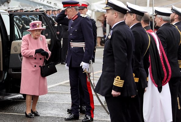 Queen Elizabeth II attended the decommissioning ceremony for HMS Ocean at HMNB Devonport in Plymouth