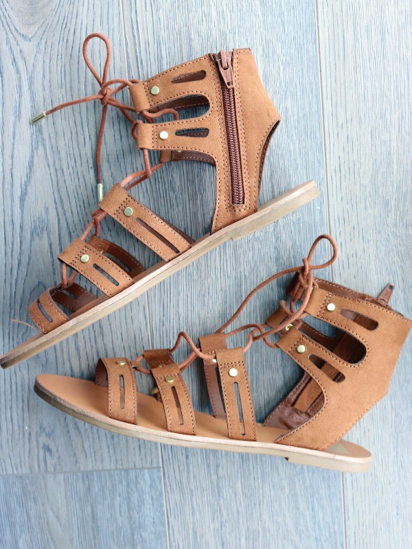 Lace Up Gladiator Sandals - Tori's Pretty Things Blog