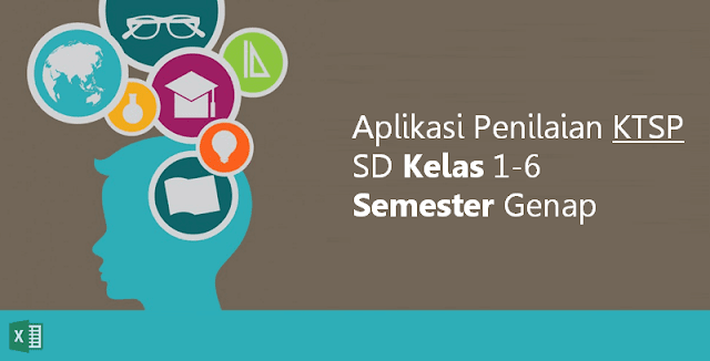 Aplikasi Penilaian KTSP SD Kelas 1-6 Semester Genap Microsoft Excel