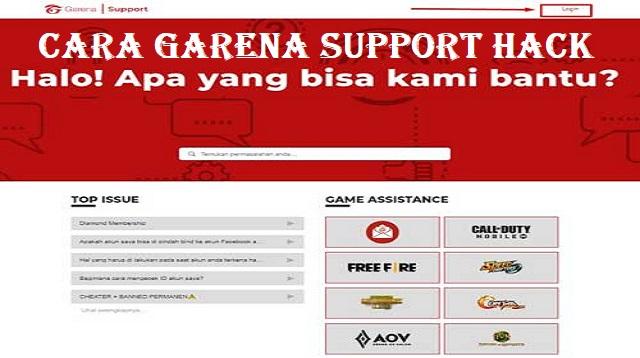 Cara Garena Support Hack