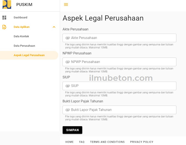 Tampilan Aspek Legal