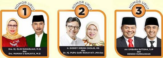 Tida paslon bupati dan wakil bupati kabupaten Bandung Barat 2018