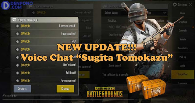 "Update! Voice Chat PUBG Mobile Versi Karakter ""Sugita Tomokazu"""