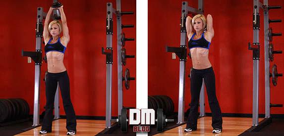 treino de triceps para mulher