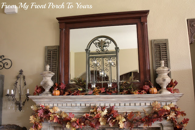 French -Country- Fall -Mantel- Vintage-From My Front Porch To Yours