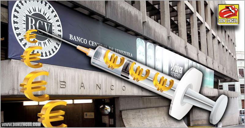 Régimen inyectó 460 millones de Euros en el BCV para frenar el aumento del dólar