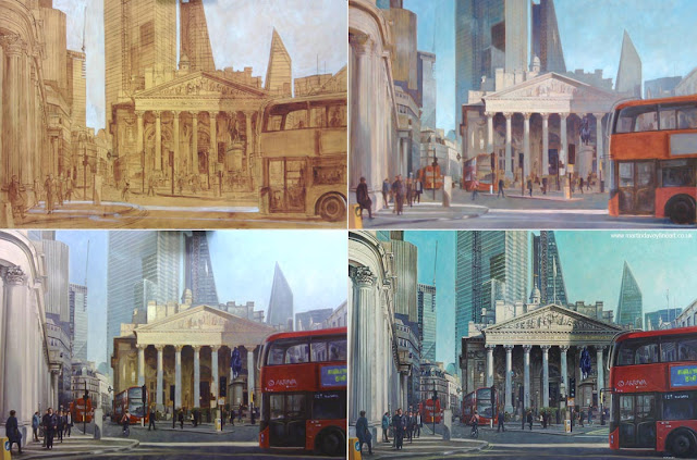 london artwork royal exchange painting autumn martin davey