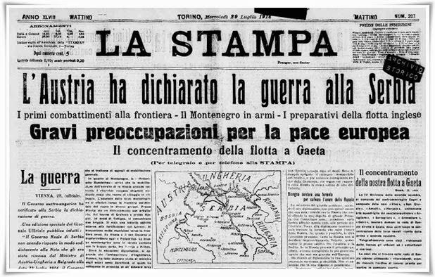 Austria dichiara guerra alla Serbia