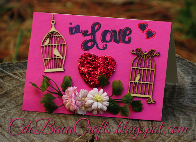 Valentine's Day card by CdeBaca Crafts Gallery blog.