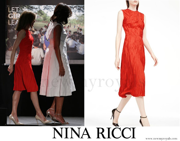 Queen Letizia wore Nina Ricci Dress - Pre-Fall 2016
