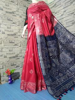 Cotton Salab Batik Print Saree
