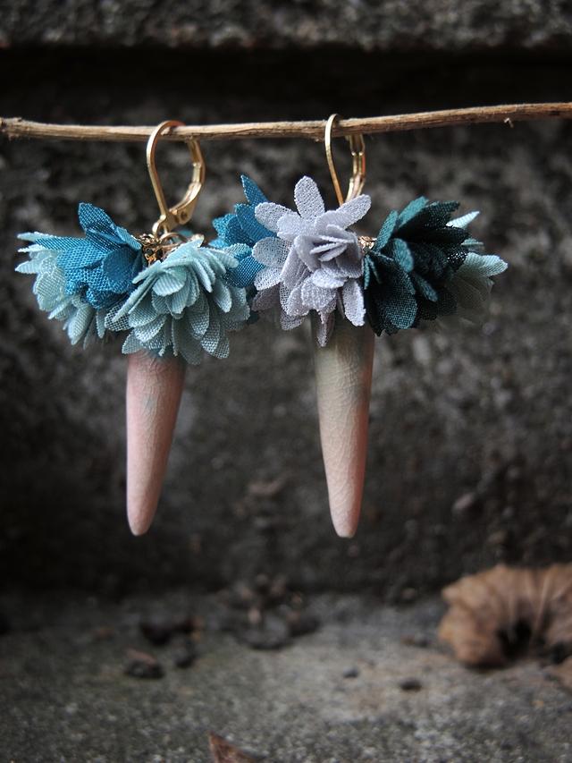 DIY oorbellen/earrings 'Tutu'