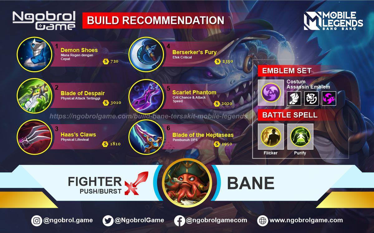 Build Bane Savage Mobile Legends