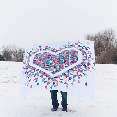 Exploding Heart quilt along final week