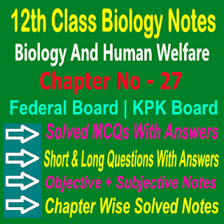 Biology PDF Notes 2nd Year For KPK And Federal Boards