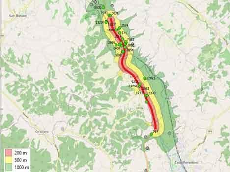 Verifiche dell' Arpat sulla presenza di materiali inquinanti riciclati contenenti Keu sulla strada regionale 429