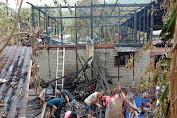 Satu Unit Rumah Warga Tapaktuan Hangus Dilalap Sijago Merah