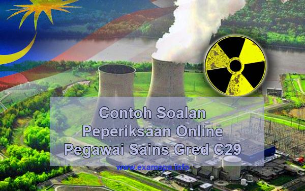 Contoh Soalan Peperiksaan Online Pegawai Sains Gred C29